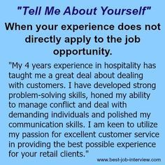 """Resume Tips : Tell me about yourself""""- sample interview answers - Resumes. Sample Interview Answers, Job Interview Preparation, Interview Skills, Job Interview Questions, Job Interview Tips, Job Interviews, Interview Tips Weaknesses, Behavioral Interview, Job Resume"""