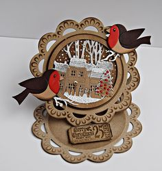 Octobers Rudolph day challenge is here.so pop on over and have a go.there is a lovely prize to be won. my card is a little easel ca. Fancy Fold Cards, Folded Cards, Christmas Makes, All Things Christmas, Card Tags, I Card, Marianne Design Cards, Easel Cards, Animal Cards