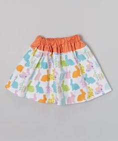 Orange Bunny Skirt - Infant, Toddler & Girls by Heavenly Things for Angels on Earth #zulily #zulilyfinds