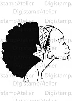 Black Afro coloring page by DigistampAtelier. African American Art, African Art, Hand Coloring, Coloring Pages, Silouette Art, African Quilts, Creative Arts And Crafts, Creation Art, Desenho Tattoo