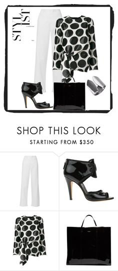 """Black and White Outfit"" by marilynarcher on Polyvore featuring Philosophy di Lorenzo Serafini, Chanel, Marques'Almeida and Balenciaga"