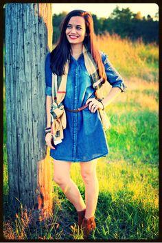 Blue jean dress - a must!!  Follow 3 jem's boutique on FB & Instagram