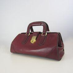 RESERVED / vintage doctors bag / oxblood by archetypevintage