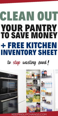 Take stock of your PANTRY, FRIDGE, or FREEZER INVENTORY with our free, simple sheet template tracker for all 3 areas of your kitchen. Plus, our best tips and techniques to keep your perishable and non-perishable ingredients in check so you save money on groceries by not letting your food go to waste. Make it fun to lower your grocery food bill with our pantry purge challenge #savemoneyonfood