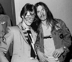 Bowie and Lemmy <3 RIP <3