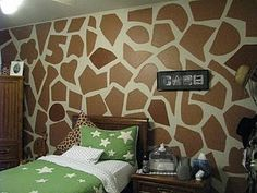 Oh... That's how I should have painted our giraffe room!