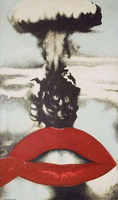Joan Rabascall Atomic Kiss 1968? Acrylic on canvas?1620 x 970 mm?MACBA Collection. Barcelona City Council Fund?Photo: Tony Coll?©ADAGP, Paris and DACS, London 2015?