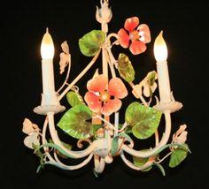 Love italian tole chandeliers!