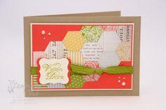 Stampin Up Karte Card Danke Thank You Tea For Two DSP Zeit zu Zweit DP Aus dem Garten der Freundschaft Blooming with Kindness_