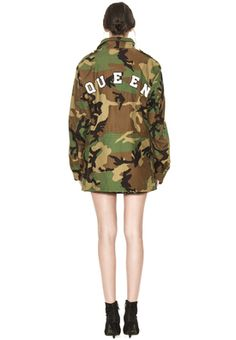 RUSSO OVERSIZED PARKA W PATCHES by Alice + Olivia