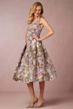 A knee-length floral bridesmaid dress from @kayungernewyork | Brides.com