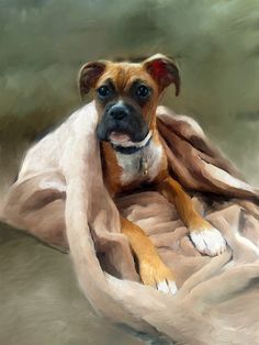 Boxer Puppy Portrait - Custom Portraits-by-Nc.com #boxer #puppy #puppies