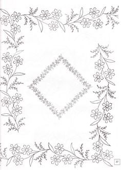 Latest Trend in Paper Embroidery - Craft & Patterns Border Embroidery Designs, Floral Embroidery Patterns, Embroidery Flowers Pattern, Paper Embroidery, Machine Embroidery Patterns, Vintage Embroidery, Beaded Embroidery, Flower Patterns, Embroidery Stitches