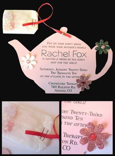 tea party invite plus I may look into the cheesecake therapy place