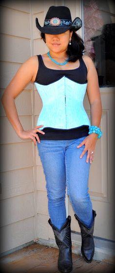 torqouise corset