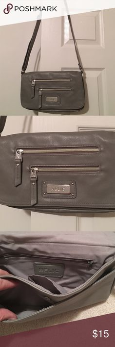 RELIC crossbody purse Great condition gray RELIC crossbody purse. Carried twice. Pet free smoke free home. Relic Bags Crossbody Bags
