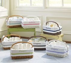 Sabrina Diaper Caddy & Harper Liners | Pottery Barn Kids