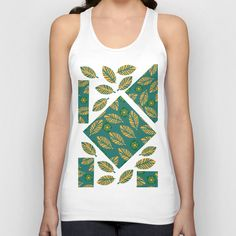 #odd #abstract #colorful #leaves #leaf #pattern #geometric #geometry #modern #apparel #clothing #tank #top #woman #man #flowers #floral #flora