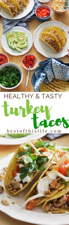 Seriously TASTY! Healthy Turkey Tacos for your next #taco night.
