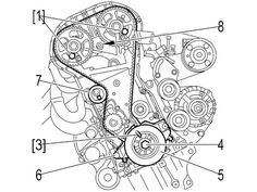 Toyota Camry 5SFE Engine Timing Belt, Water Pump, and Seal