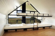 Window side bunks   Photography by Francis Pelletier