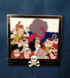 Disney Pin Trading - Reveal/Conceal Mystery Collection - Peter Pan Family LE