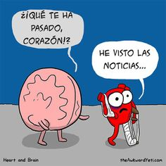 The Awkward Yeti comics. Funny humor and oddities. Have a laugh and check out… Mbti, Funny Quotes, Funny Memes, Hilarious, Quotes Pics, Caricature, Heart And Brain Comic, The Awkward Yeti, 4 Panel Life