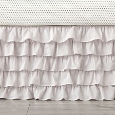 Little Angel Grey Ruffle Crib Skirt