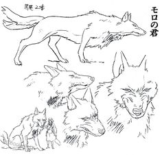 artbooksnat: Princess Mononoke (もののけ姫) animation materials by character designer Masashi Ando (安藤雅司) in the Mononoke Hime Roman Album (Amazon US | JP)