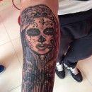 Portafolio - Lottus Tattoo Lottus Tattoo, Piercing, Black Tattoos, Black And Grey, Skull, Tatuajes, Piercings, Black Art Tattoo, Body Piercings