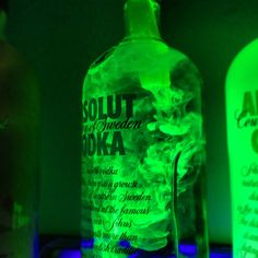 Use water and highlighter ink + a blacklight for some cool bar decorations.