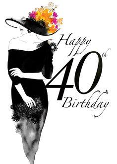Leading Illustration & Publishing Agency based in London, New York & Marbella. 40th Birthday Quotes, Happy 40th Birthday, Happy Birthday Messages, Art Birthday, 40th Birthday Parties, Happy Birthday Images, Happy Birthday Greetings, Birthday Pictures, Happy Birthday Celebration