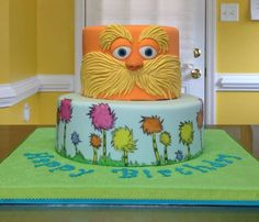 You have to see The Lorax on Craftsy! - Looking for cake decorating project inspiration? Check out The Lorax by member emmalvara1960726. - via @Craftsy