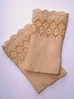 Wrist warmers. Lithuanian Wristers. Knitted with seed beads.