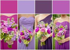 I love this color palette for mismatched purple bridesmaid dresses! See more lavender bridesmaids dress ideas at the link below. by JoPhoto http://www.thebridelink.com/blog/2014/03/25/mismatched-purple-and-lavender-bridesmaid-dress-ideas/