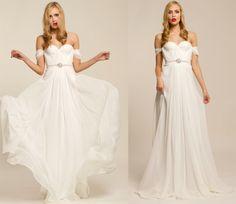 Natural White Annie Wedding Gown Silk Hand Gathered by reddoll