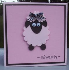 Laurie's Stampin' Spot: Punch Art Lamb Card