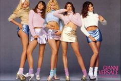 Image result for Gianni's original 90s muses—original supermodels Carla Bruni, Claudia Schiffer, Naomi Campbell, Cindy Crawford, and __Helena Christensen