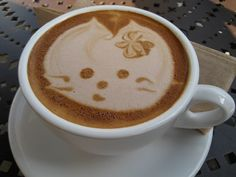 coffee kitten for a big morning smile