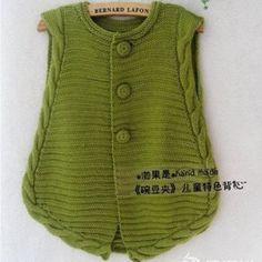碗豆夹 儿童棒针特色开衫背心-编织教程-编织人生