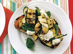Grilled Bread With Zucchini, Ricotta, and Basil - Quentin Bacon