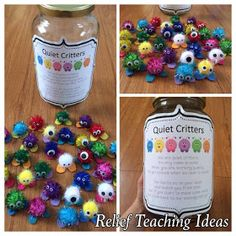 Quiet Critters - This is a great classroom management idea. I have personally used these in my own preschool classroom, it definitely works! Classroom Behavior Management, Behaviour Management, Classroom Consequences, Classroom Behaviour, Behavior Rewards, Behavior Charts, Quiet Critters, Future Classroom, Classroom Ideas