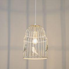 Pendelleuchte Birdcage weiß #PendelleuchteKäfig #Pendelleuchteweiß #PendelleuchteVögel #PendelleuchteVogelkäfig