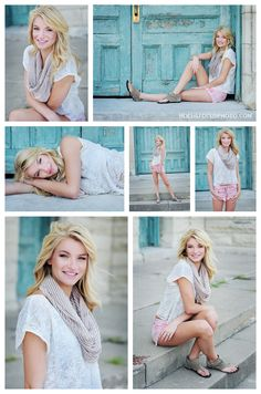 caty - kansas city senior portraits | hocus focus photo blog       Love the photo to the right in top row!
