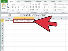 How to Calculate the Day of the Week in Excel