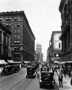 4th Street in Downtown Louisville Ky. 1922
