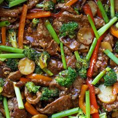 There's no need to order out! This easy 30 minute Mongolian beef stir-fry is fresh, flavorful and ready to go in a hurry!