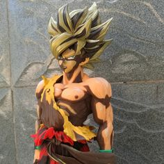 (33.29$)  Watch more here - http://aiwqn.worlditems.win/all/product.php?id=32796881179 - Dragon Ball Z Son Goku MSP Kakarotto Super Saiyan Colorfulr Battle Damage Anime PVC Model Action Figure Toy 34cm