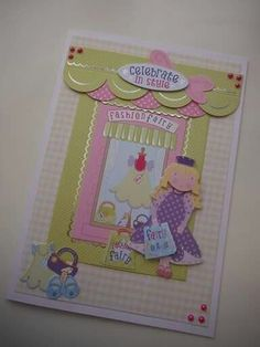 Kanban crafts - The Fairy concept collection.  Decoupage 3d box card kit. Baking theme