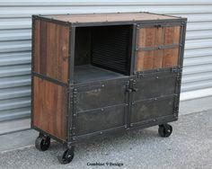 Bar Cart/Liquor Cabinet. Vintage Industrial.  via Etsy.